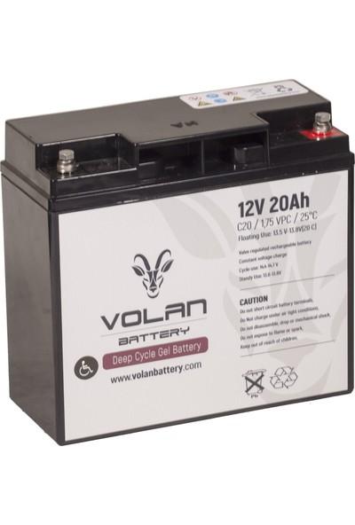 Volan Battery 12 Volt 20 Ah (Amper) Engelli Aracı Aküsü (Ücretsiz Kargo)