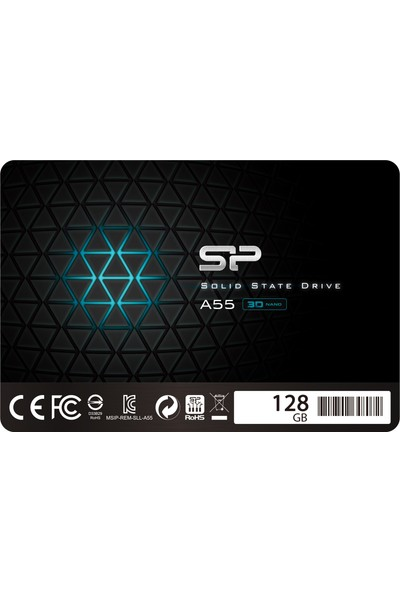 "Silicon Power Ace A55 128GB 2.5"" Sata3 6gb/s 550/420 SP128GBSS3A55S25"