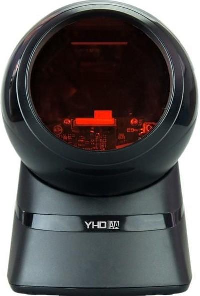 Yhdaa YH9100 Qr Kod Karekod Masaüstü Barkod Okuyucu 2d 1d USB Girişli Karekod Tarayıcı