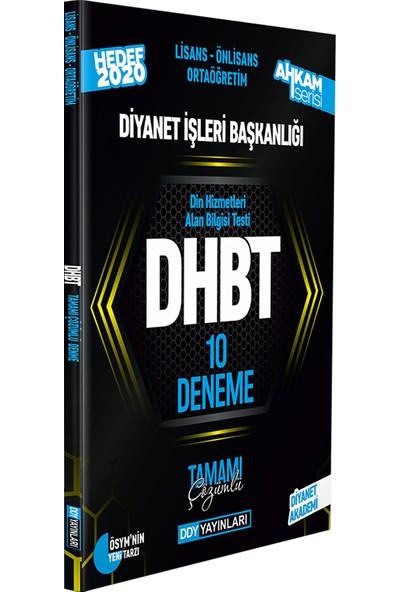 Ddy Yayınları DHBT 2020 Ahkam Serisi Tüm Adaylar Tamamı Çözümlü 10 Deneme