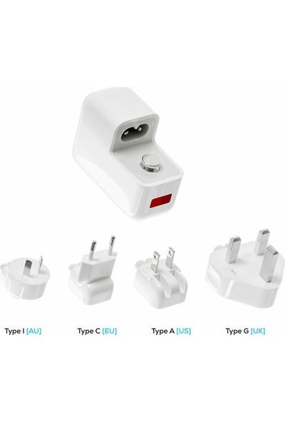 İjoy Powwer Evrensel Çift USB Bağlantı Noktası 3.1A 15.5W Dünya Çapında Şarj Cihazı