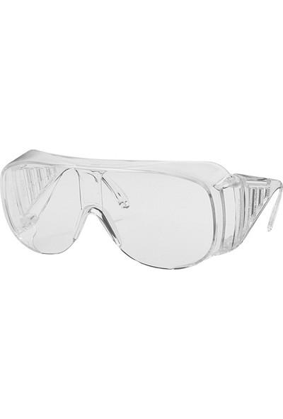 Uvex 9161 305 Mavi Siyah Şeffaf Gözlük Üstü Koruyucu Gözlük