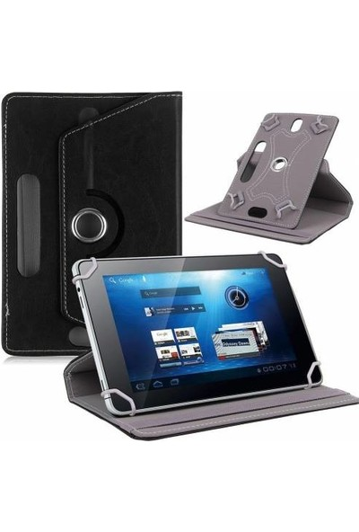 """AksesuarFırsatı Huawei MediaPad 10 Link (4G) - 10.1"""" Tablet Dönerli Tablet Kılıfı Siyah"""