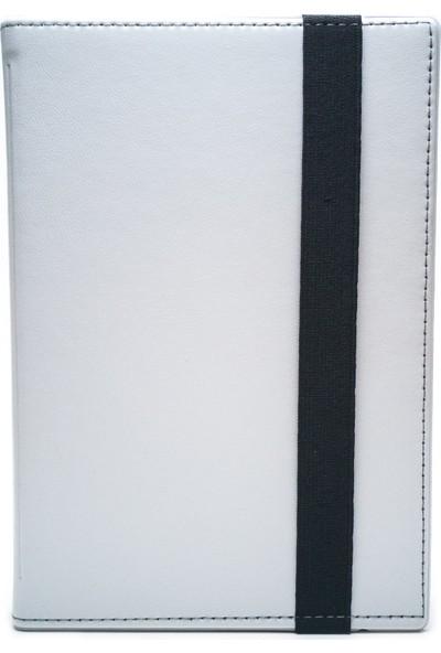 """AksesuarFırsatı Huawei MediaPad X1 (4G) - 7"""" Tablet Dönerli Tablet Kılıfı Beyaz"""