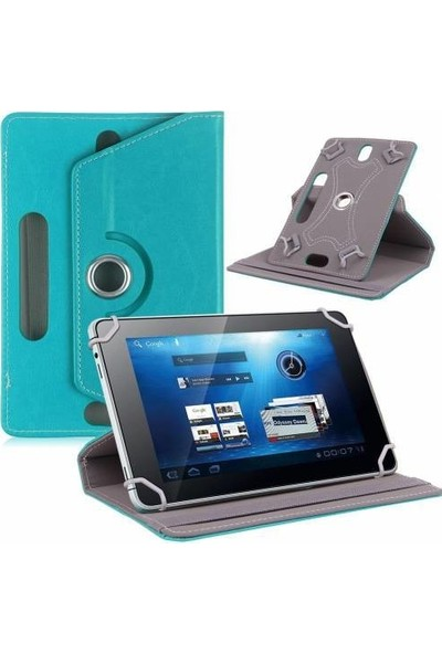 "AksesuarFırsatı Lenovo Tab 2 A10 - 10.1"" Tablet Dönerli Tablet Kılıfı Turkuaz"