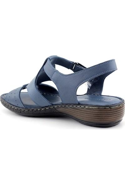 Iz 011 Hakiki Deri Kadın Sandalet