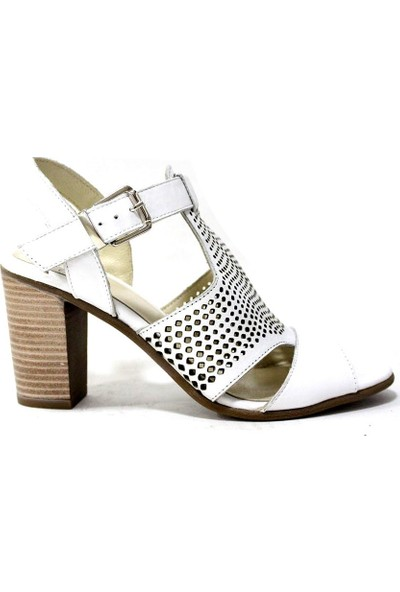 İloz 123621 Hakiki Deri Kadın Topuklu Ayakkabı
