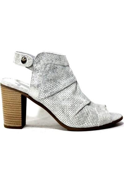 İloz 123680 Hakiki Deri Kadın Topuklu Ayakkabı