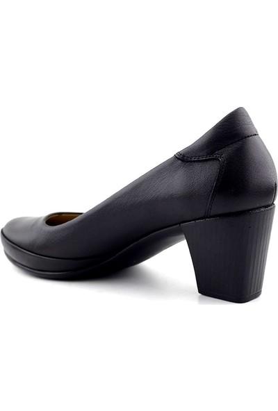 Ellanor 1506 Hakiki Deri Kadın Topuklu Ayakkabı
