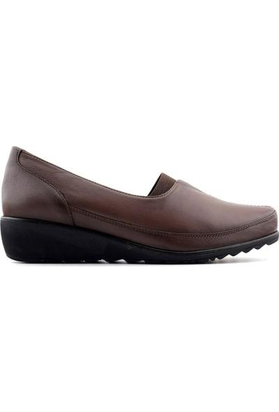 Evida 2352 Hakiki Deri Kadın Ayakkabı