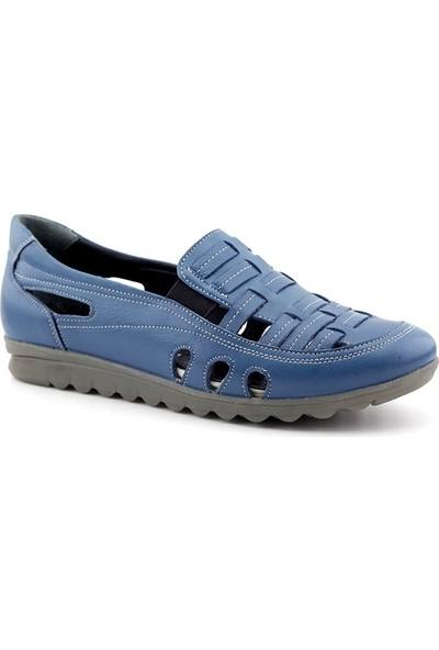 Evida 2536 Hakiki Deri Kadın Ayakkabı