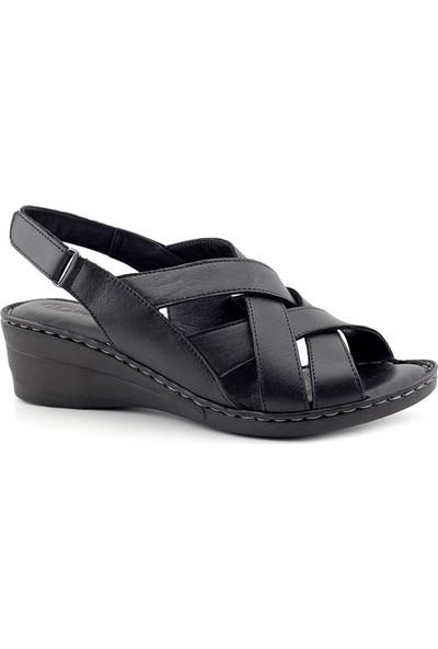 Iz 403 Hakiki Deri Kadın Sandalet