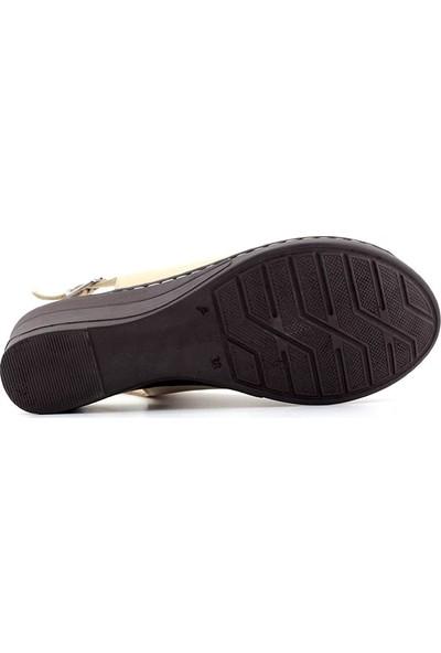 Iz 419 Hakiki Deri Kadın Sandalet