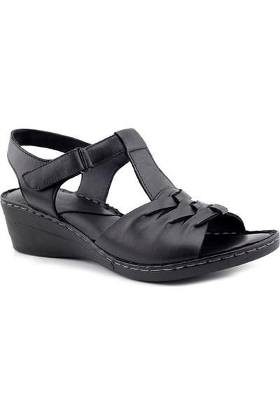 Iz 416 Hakiki Deri Kadın Sandalet