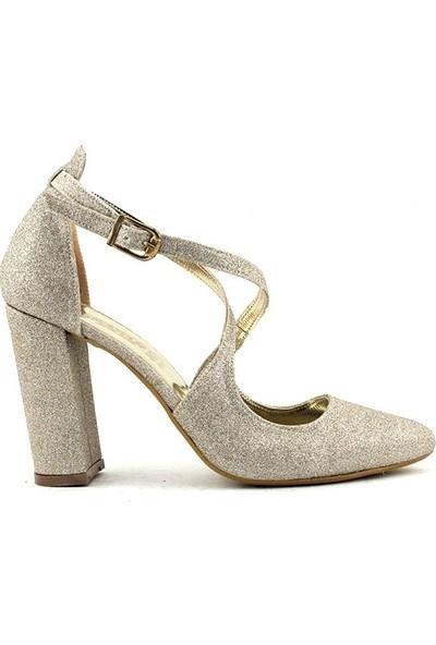 Saçma 456 Kadın Topuklu Ayakkabı