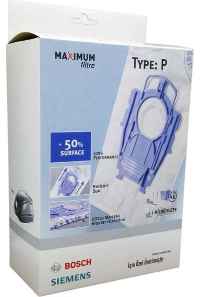 Bosch Type P Süpürge Toz Torbası 4 Adet + Micro Filtre