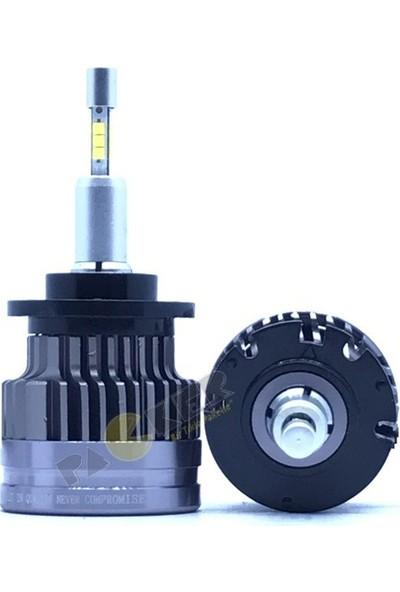 Stark D4S Şimşek Etkili Cree LED Xenon Ampul Beyin Balast Gerektirmez, 8200 Lümen 6500 Kelvin Beyaz Iki Adet LED Ampul