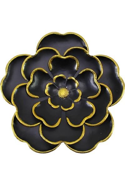 Dekorsende Çiçek Duvar Objesi Siyah