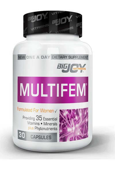 Bigjoy Vitamins Multifem Multivitamin 30 Kapsül BİG351719