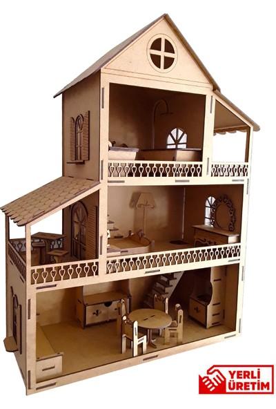 Bebek Evi - Mini Mobilya Seti-Ahşap