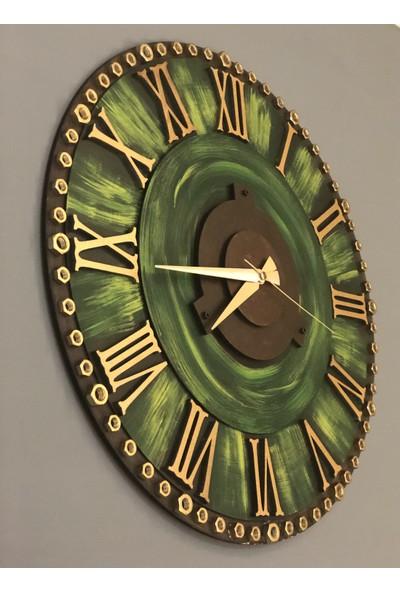 Kayra Dekoratif Duvar Saati Green