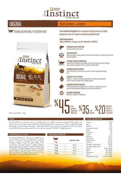 True Instinct Original Taze Somon ve Arpalı Kısırlaştırılmış Yetişkin Kedi Maması 7 kg