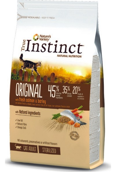 True Instinct Original Somon ve Arpalı Yetişkin Kedi Maması 1,25 kg