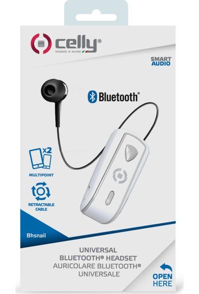 Celly Makaralı Bluetooth Kulaklık - Beyaz