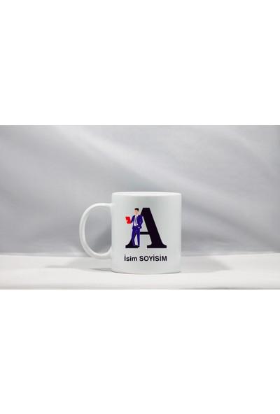 Tasarım Mağazası Business Man Kişiye Özel İsimli Seramik Beyaz Kupa Bardak