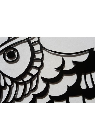 İdeal Tasarım Baykuş Metal Tablo Lazer Kesim