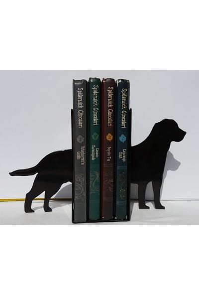 İdeal Tasarım Köpek Figürü Kitap Dayanağı Raf Metal Lazer Kesim