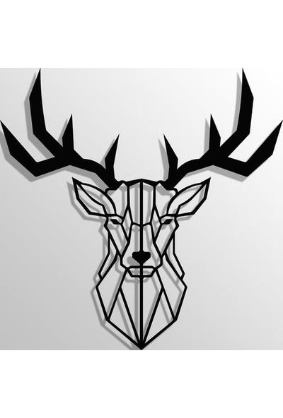 İdeal Tasarım Geyik Kafası Metal Tablo Lazer Kesim
