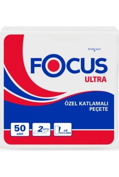 Focus Ultra 1/8 Özel Katlama Peçete 33 x 33 cm 50'li x 24 Paket
