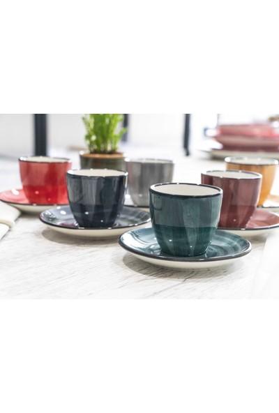 Lugga 6 Kişilik Renkli Kahve Fincan Takımı
