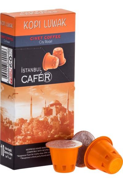 İstanbul Cafer Kapsül Kahve Kopi Luwak 10 Kapsül