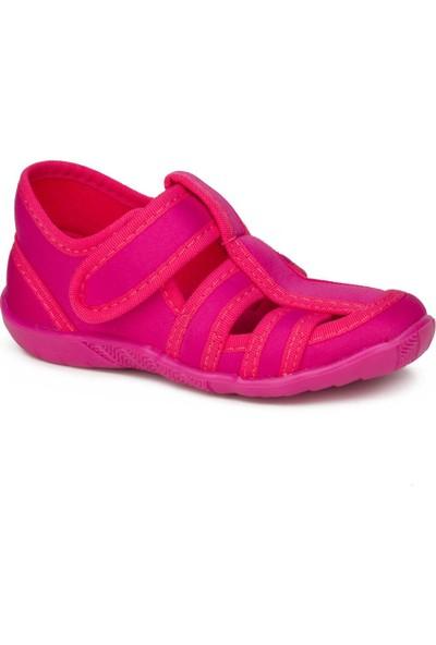 Crazy Kids Crazykids Fuşya Kız Çocuk Panduf Kreş Ayakkabısı
