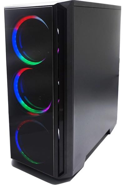 Izoly RGB 5507 3xLED 600W Oyuncu Bilgisayar Kasası