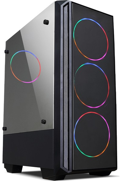 Izoly RGB 5507 3xLED 750W Oyuncu Bilgisayar Kasası