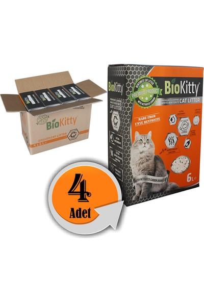 Biokitty Aktif Karbonlu Kedi Kumu 6 l 4 Al 3 Öde