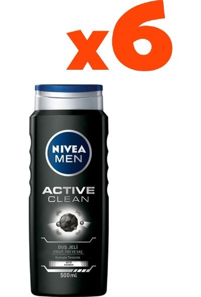 Nivea 500 ml Actıve Clean Duş Jeli 6'lı Set
