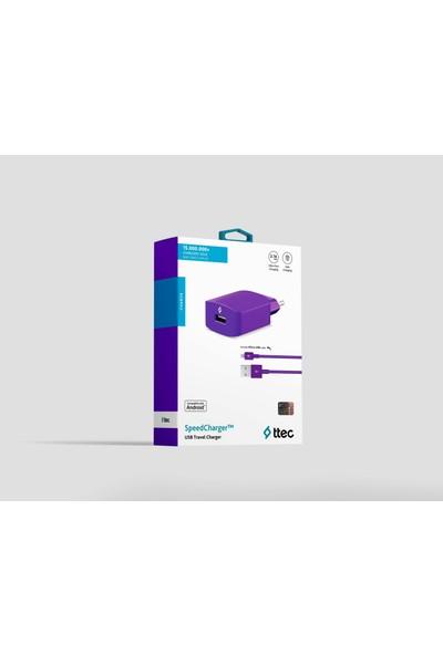 Ttec SpeedCharger Seyahat Şarj Aleti Micro USB 2.1A - Mor