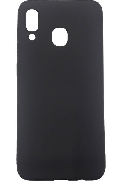 Ercan İletişim Samsung Galaxy A20 / A30 Silikon Cep Telefonu Kılıfı Siyah
