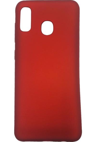 Ercan İletişim Samsung Galaxy A20 / A30 Silikon Cep Telefonu Kılıfı Kırmızı