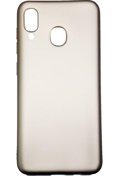 Ercan İletişim Samsung Galaxy A20 / A30 Silikon Cep Telefonu Kılıfı Gold