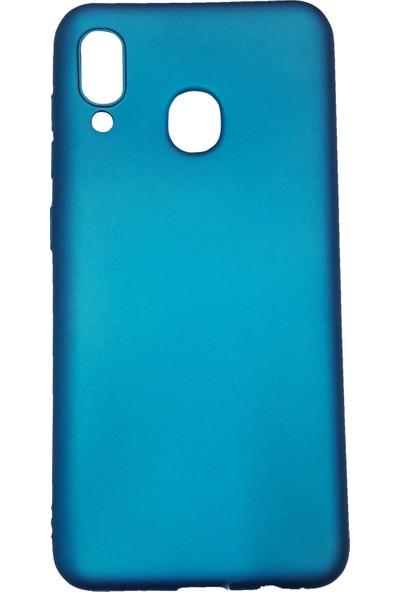 Ercan İletişim Samsung Galaxy A20 / A30 Silikon Cep Telefonu Kılıfı Açık Mavi
