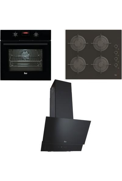 Teka Ankastre Set HAK 627 N Ankastre Fırın + PAC 60 4G AI AL CI Ankastre Ocak + TVT 60.1 Davlumbaz