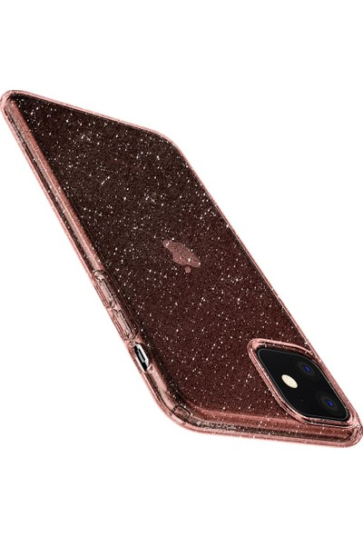 Spigen Apple iPhone 11 Kılıf Liquid Crystal Glitter Rose Quartz - 076CS27182