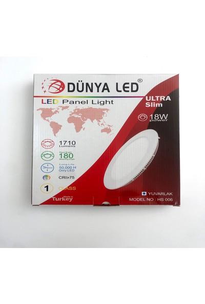 Dünya LED 18W Panel LED Spot Yuvarlak Renk:7000K