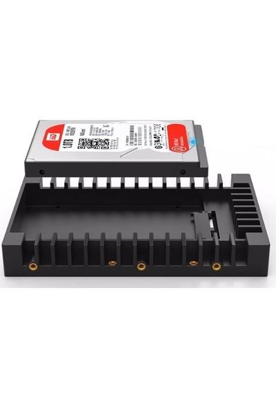Alfais 4351 SSD ve 2.5 Disk Için To 3.5 Çevirici Dönüştürücü Kızak Yuvası Montaj Aparatı