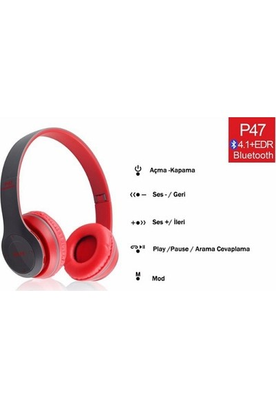 EDR P47 Wireless Bluetooth Kulaklık